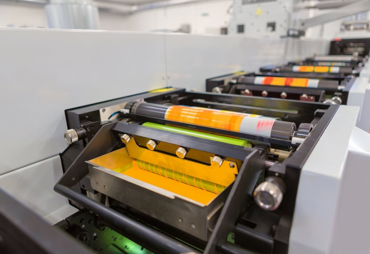 printed film packaging machine